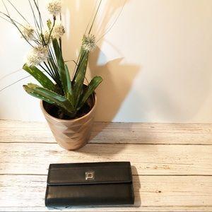 {Lodis}Beautiful RFID Black & Kahki Leather Wallet